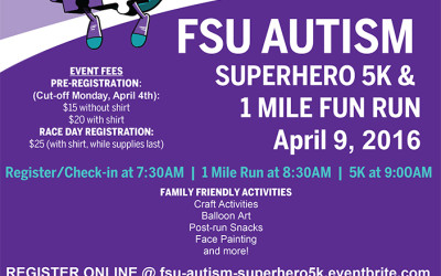 [Event] FSU Autism Superhero 5K & 1 Mile Fun Run