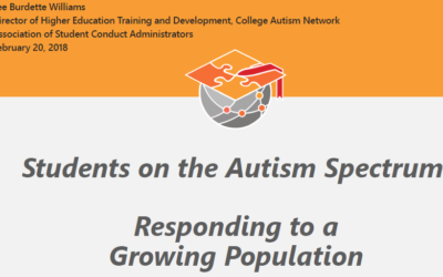 [Event] ASCA 2018 – Pre-Con – Students on the Autism Spectrum: Responding to a Growing Population