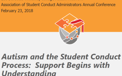 [Event] ASCA 2018 – Concurrent Session – Autism and the Student Conduct Process: Support Begins with Understanding