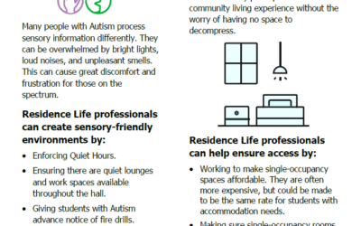 [Short Sheet] Housing & Residence Life
