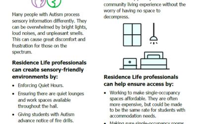[Short Sheet] Housing & Residence Life