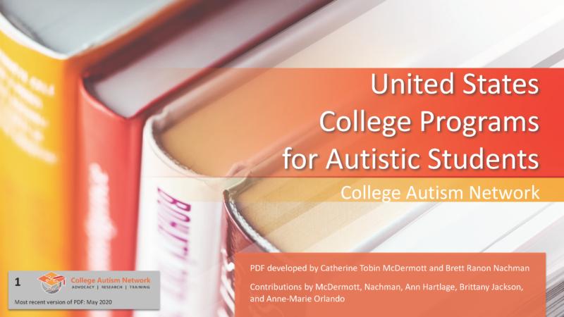 College Autism Programs